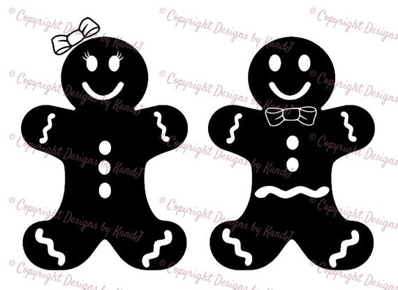 Gingerbread Man And Gingerbread Lady Svg Christmas Svg File