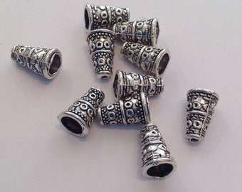 20 x metal cone beads