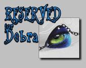 Reserved listing for Debra - Green Eyes, Cat Eyes