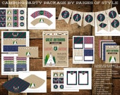 Camping Teepee Birthday Party Package- Printable