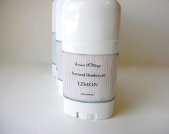 Lemon Deodorant, Deoderant Stick, Natural Corn Free Formula