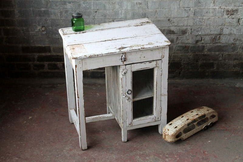 Vintage Indian Student Desk Very Small By Hammerandhandimports