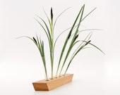 Cherry Wood Bud Vase / Vase Stand / Modern Wood Vase SAKURA