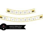 Construction Happy Birthday Banner- Instant Download