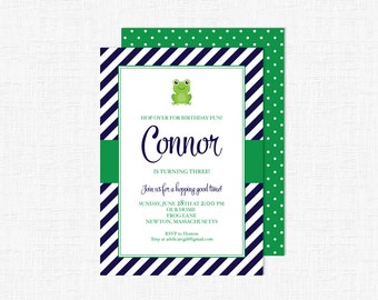 Hop Over Frog Birthday- Party Invitation