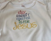 Sorry Rabbit Easter is for Jesus one piece