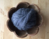 Roving for felting, Natural Charcoal Grey, 1/2 ounce or 1 ounce, grey wool for felting, grey roving, dark grey wool, grey felting wool