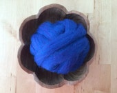 Wool roving supply for needle felting, Blueberry Blue, 1 ounce