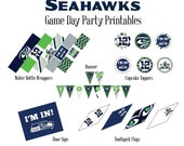Seahawks Gameday Party Printable Package-
