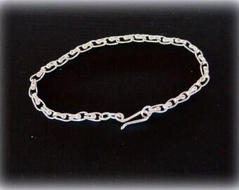 Fine silver, single ball loop, 20 gauge bracelet