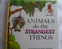 Vintage Animals do the Strangest Things Childrens Book