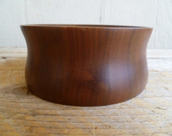 RESERVED    Only One    Wood Salad Serving Bowls Walnut Lebano