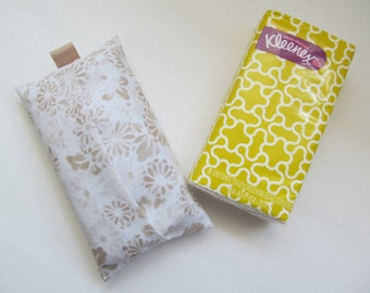 Tissue Case/Beige Flower