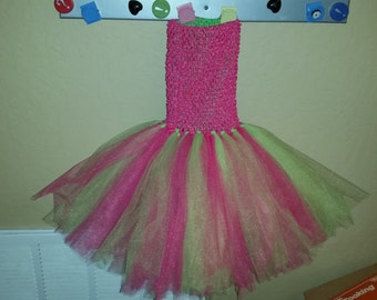 Clearance ~ 2T/3T Pink and Green Tutu Dress