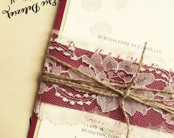 Rustic Winery Vineyard Wedding Invitation - SAMPLE