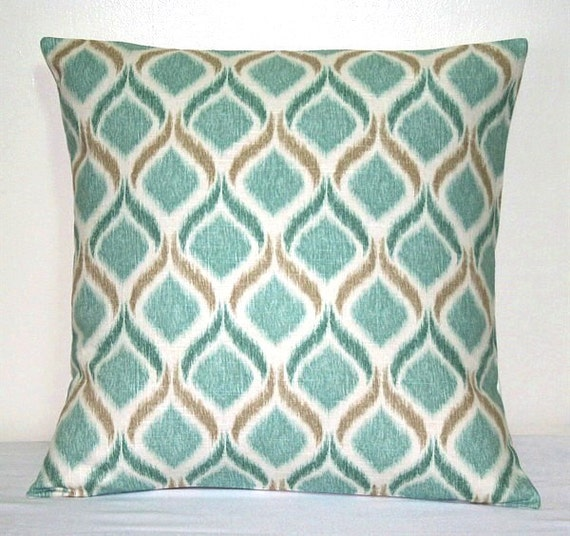 12 Inch Throw Pillow Covers : LUMBAR 12 x 18 inch Turquoise Moroccan Pillow Cover by PatsTable
