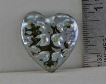 Handmade Raku  Heart Cabochon