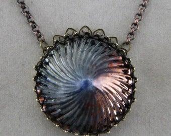 Handmade Raku Pinwheel Necklace