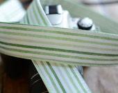 Green Watercolor Strip - fits Canon dSLR, Nikon dSLR etc - Beachy Camera Strap - Summer Camera Strap