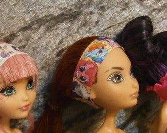 Headband three pack for Monster and Ever after dolls