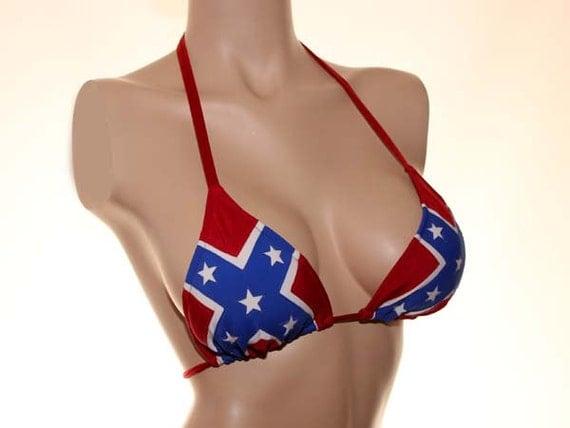 bikini Plus size confederate flag