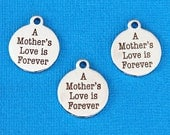 Mother Charm Polished Stainless Steel - A mother's love is forever - Exclusive Line - Quantity Options  - BFS10