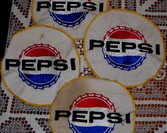 Vintage Pepsi Patches (4)  and 2 Rulers - FREE SHIPPING!