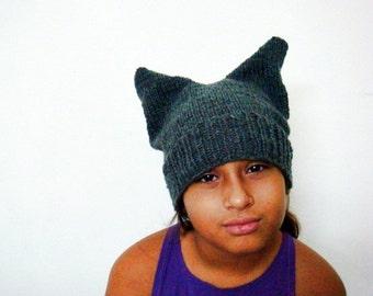 Pattern Knit Ear Hat, Knit Ear Beanie Pattern, 252