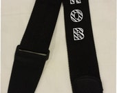 MONOGRAMMED CUSTOM Embroidered Nylon Guitar Strap with PERSONALIZED name