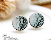 20% off -NEW Unique 3D Embossed  Tree 16mm Round Handmade Wood Cut Cabochon to make Rings, Earrings, Bobby pin,Necklaces, Bracelets-(WG-65)