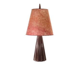 Mid Century Lamp - Vintage Lighting - Fiberglas Shade - Atomic Table Lamp - Large