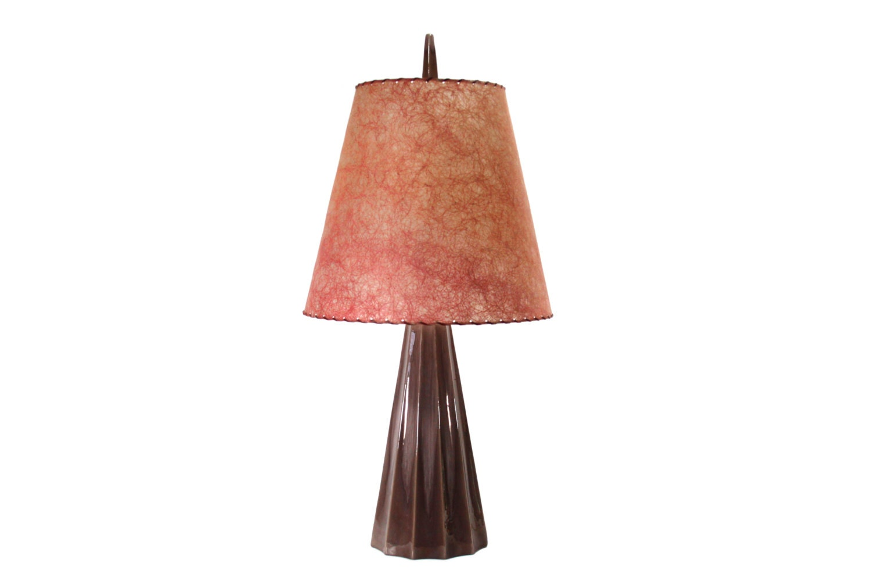 mid century lamp vintage lighting fiberglas shade by phatdog. Black Bedroom Furniture Sets. Home Design Ideas