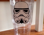 Star Wars Darth Vader Yoda storm trooper clone trooper tervis style tumbler 24 oz insulated BPA free double walled Monogrammed for you