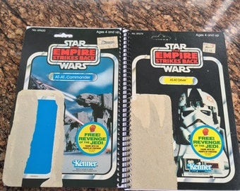 At-At Driver + At-At Commander Recycled Original Vintage Star Wars Notebook/Journal