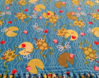 Jumping Frogs Fleece Blanket
