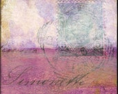 "Abstract Art Print: Cloud Print, Cloud Art, Contemporary Mixed Media, 5x5 (127mm), 8x8 (203mm) or 12x12 (305mm), ""Abstract Cloud 110"" purple"