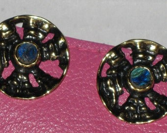Pentti Sarpaneva clip on stone earrings FROM OLD STOCK, never been used, from Finland