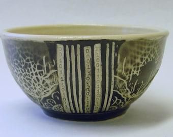Barcode Mandala Bowl