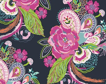 Nib and Pluck Zinnia  (pep-68200) PETAL & PLUME by Bari J Ackerman for Art Gallery Fabrics -  By the Yard