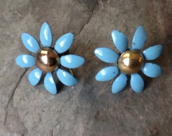 Vintage Cornflower Blue Earrings