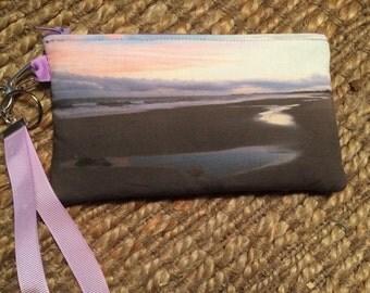 Wristlet Zipper Pouch: Sunset after the storm