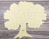 120 pc Custom Wedding Guest Book Puzzle, guestbook alternative, wood TREE puzzle guest book, Bella Puzzles™. Rustic barn bohemian wedding.