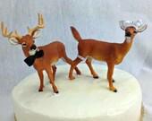 Buck and Doe wedding cake topper, Deer Bride and Groom cake topper, Hunting, Hunter shower cake topper, groom cake, redneck, deer party
