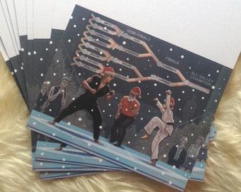 Karate Kid Christmas Cards 10 PACK