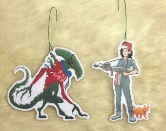 Ripley/Xenomorph Christmas Ornament COMBO