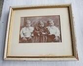 Charming Vintage Framed Photograph~ Children
