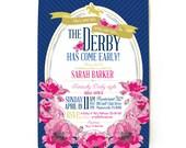 Derby Bridal Shower Invitations in Navy