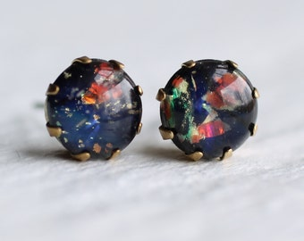 Starry Sky Navy Earrings