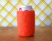 Blaze Orange Koozie - The Hunting Collection  - 100% Felted Wool