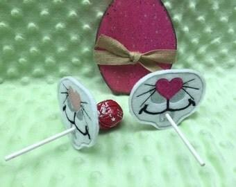 Bunny Lollipop Holders,  Easter Basket Filler, Easter Basket Stuffer, Easter Party Favor, Kids Easter Baskets